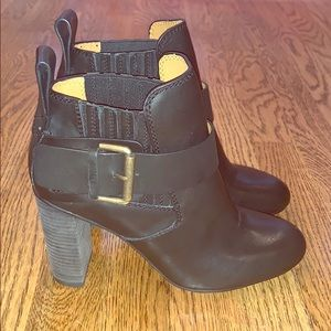 See by Chloe black booties with side buckle